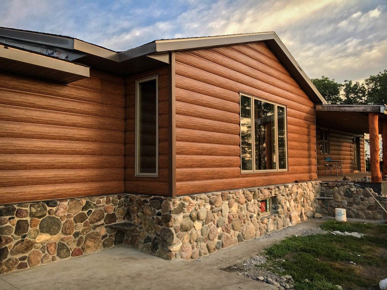 Red Cedar Cabin Siding  Maintenance Free Log Siding  Log