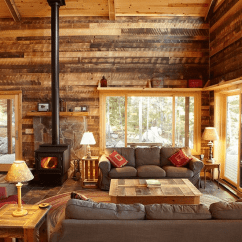 Log Home Living Room Decorating Ideas Small With Sectional Sofa 19 Cabin Decor 13