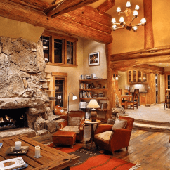 Log Home Living Room Decorating Ideas Standing Lamps For 19 Cabin Decor