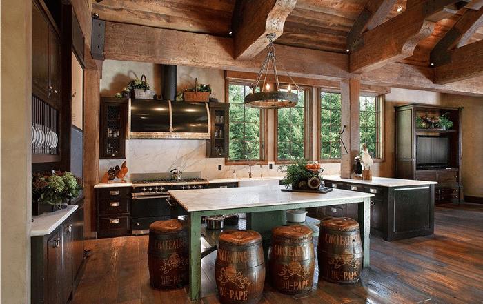 cabin kitchen decor sets 19 log home ideas 4
