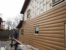 Ponderosa Pine Steel Log Siding