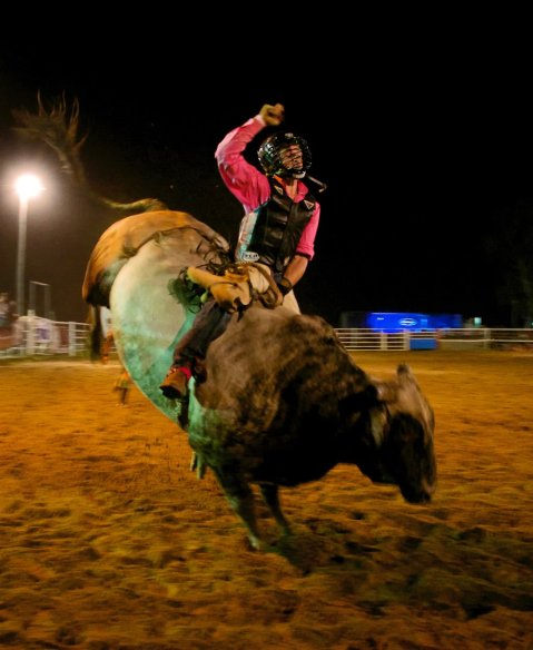 New Year's rodeo in Western Australia, 2012. The cowboy culture is alive and well in the outback.