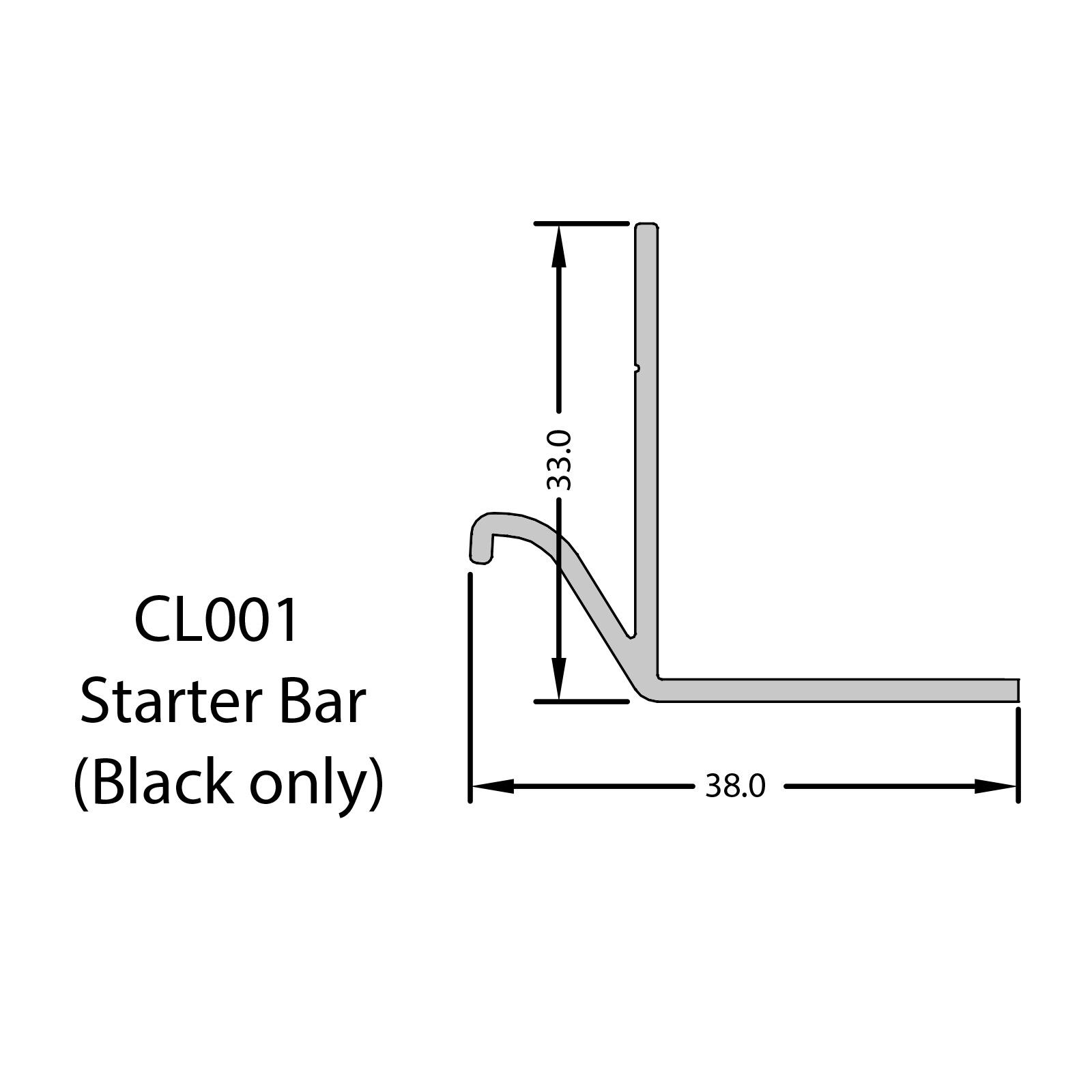 5m Aluminium Starter Bar For Coastline Composite Shiplap
