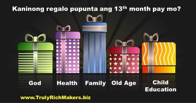 Kaninong Regalo ang Bibilhin ng 13th month pay mo?