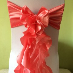 Coral Sashes For Wedding Chairs Patio Chair Covers At Walmart Truly Scrumptious Weddings