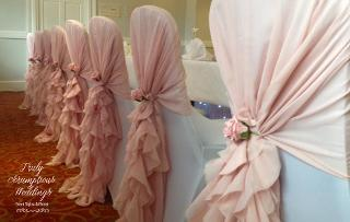 wedding chair covers swansea office orange truly scrumptious weddings cover with organza or lace hood 1 20 diy 2 set up