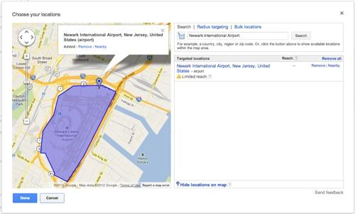 Google riktar annonser mot flygplats-besökare