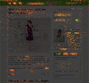 Crazyegg visar var användarna klickar
