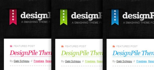 Designpile – tema i 3 färger