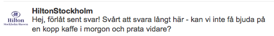 Så jobbar Hilton Stockholm med sociala medier
