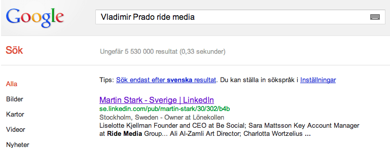 Lita inte på Ride Media Group