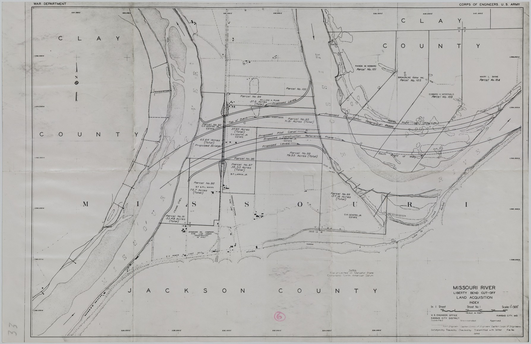 Map Of River Engineering In Greater Kansas City