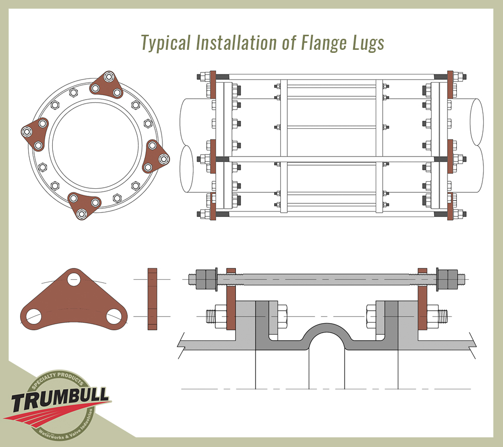 hight resolution of product image flange lugs 2