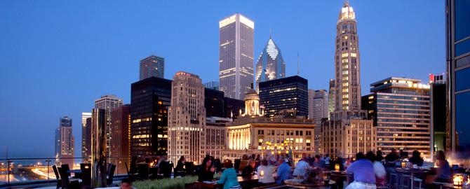 Fine Dining In Chicago  Terrace At Trump Outdoor Dining