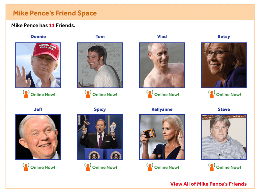 Mike Pence MySpace