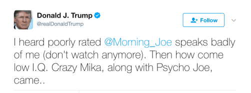 Trump is an idiot