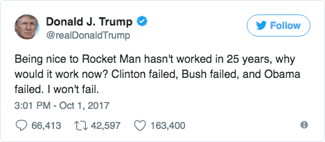 Rocket Man Tweet