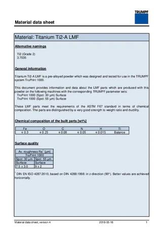 積層造形に適した金屬粉末 | TRUMPF