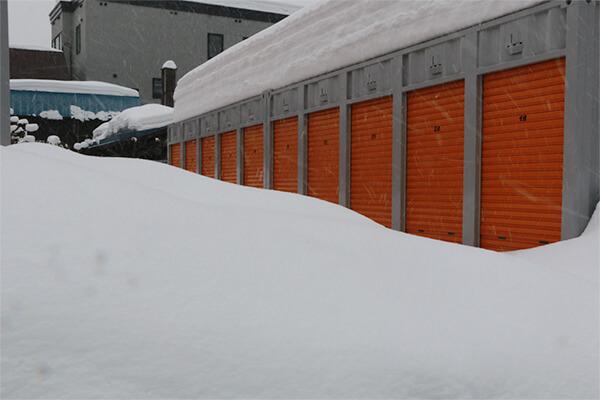 積雪でトランクルームが使えない