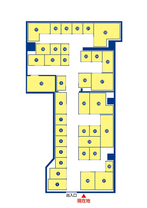 トランクルーム広島東雲本町店 案内図