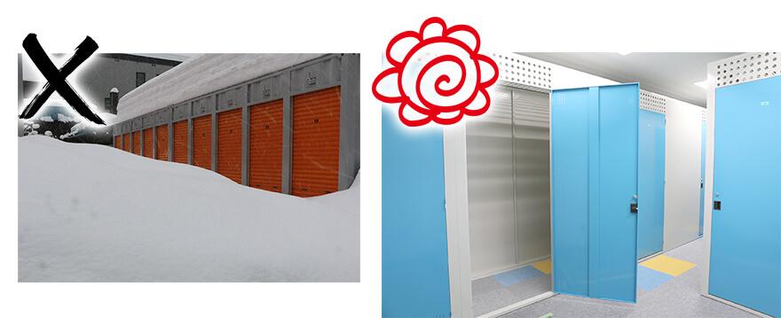 屋外型と屋内型の比較