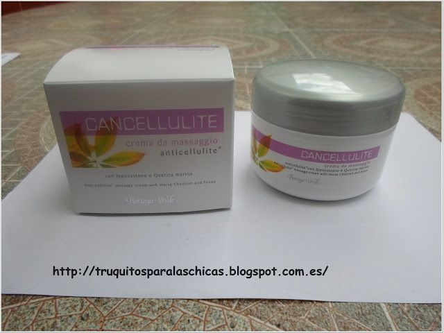 Crema para masaje anticelulitico bottega verde