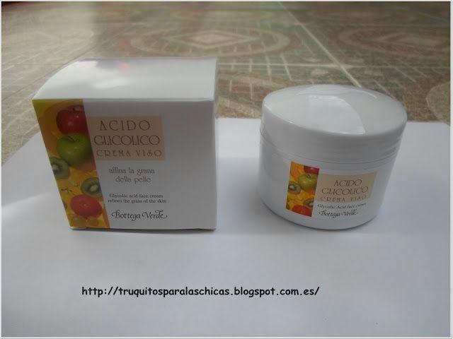 Crema para el rostro a base de ácido glicólico