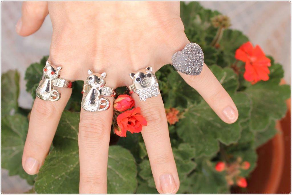 anillos Briliantina bisuteria