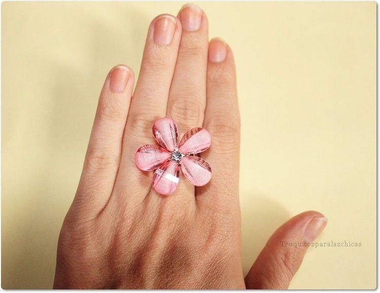 anillo niñas flor Briliantina