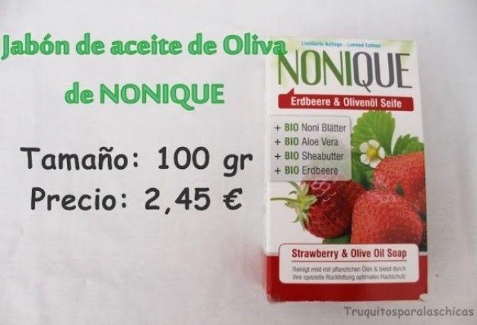 Jabón de aceite de oliva de Nonique