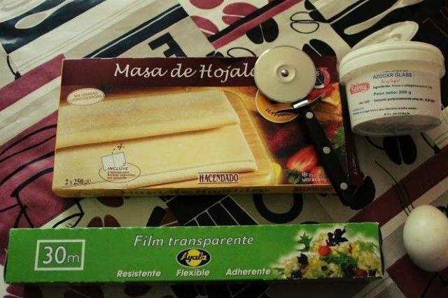 ingredientes Mini Croissant de Hojaldre, Receta fácil y rápida.