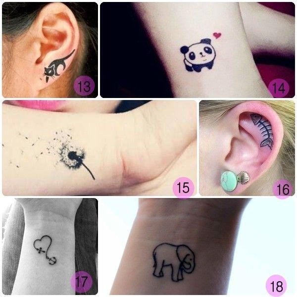 mejores tatuajes pequeños para mujeres