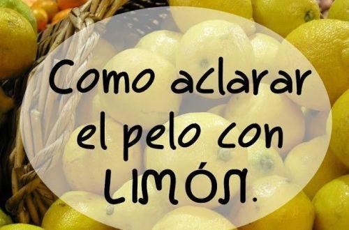 aclarar el pelo con limón