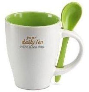 taza personalizada verde