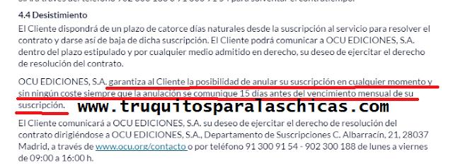 condiciones nueva tablet ocu solo 7,57 euros