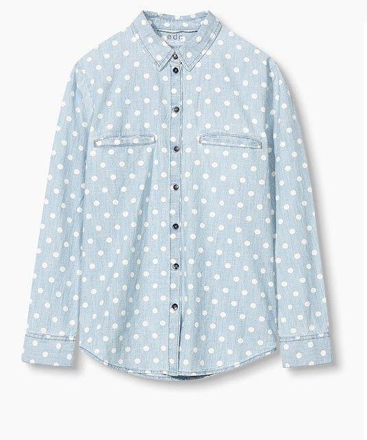 camisa vaquera lunares esprit