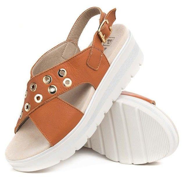sandalias marrones con plataforma