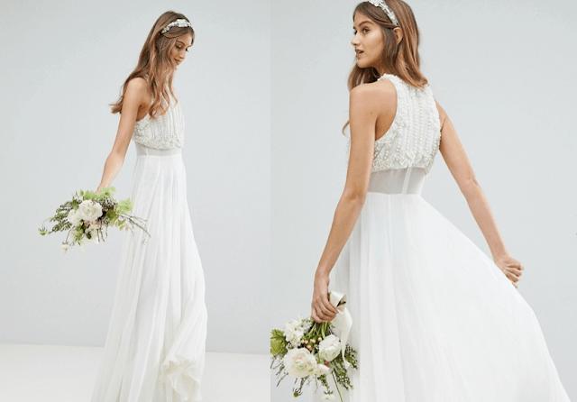 vestido novia barato Asos