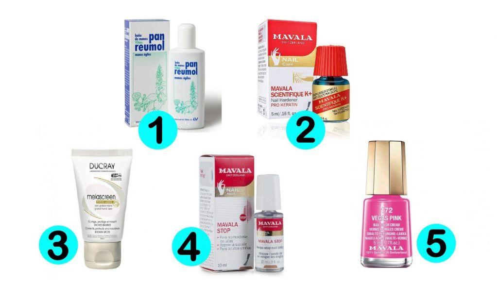 productos esenciales para el cuidado de las uñas