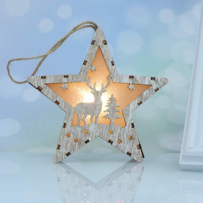 adorno estrella navidad LED