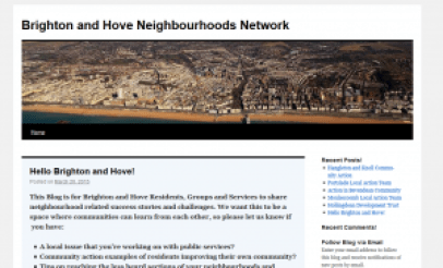 Screenshot of Neighbourhood Networks homepage