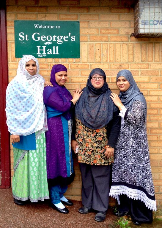 Members of the Moulsecoomb Bangladeshi Women's Groups outside St George's hall