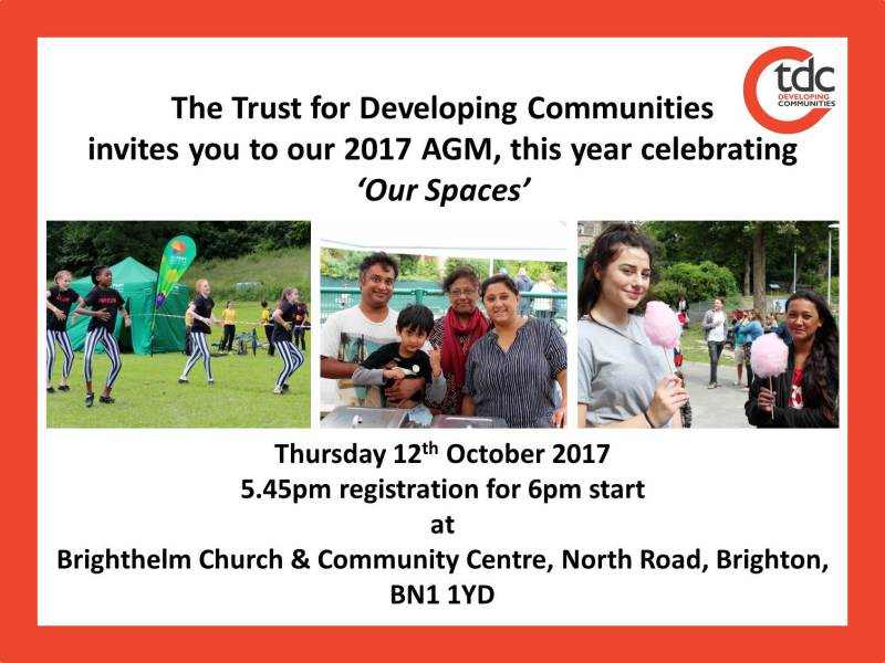 The Trust for Developing Communities 2017 AGM – 'Our Spaces'
