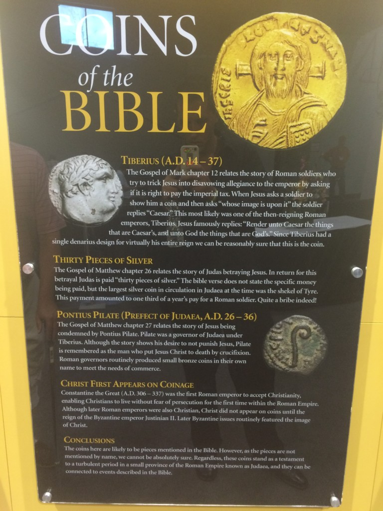 Tribute Penny, Thirty Pieces of Silver and Pontius Pilate coins explained