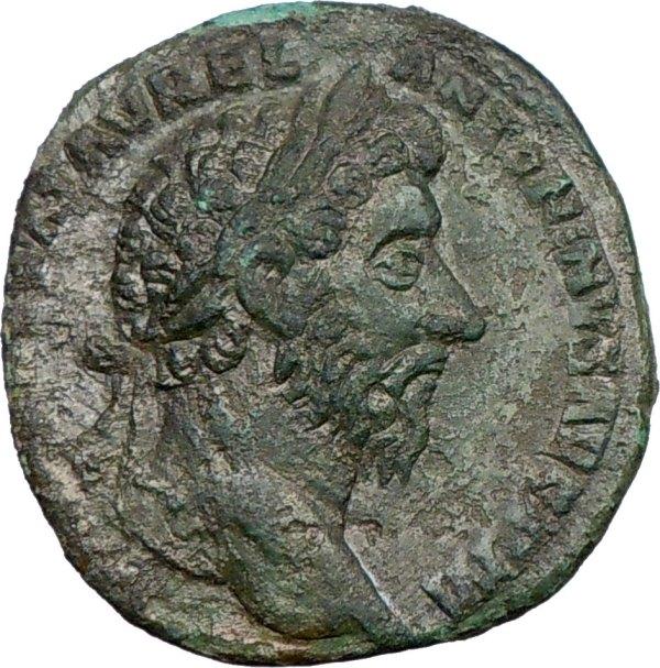 Marcus Aurelius 163ad Sestertius Big Ancient Roman Coin