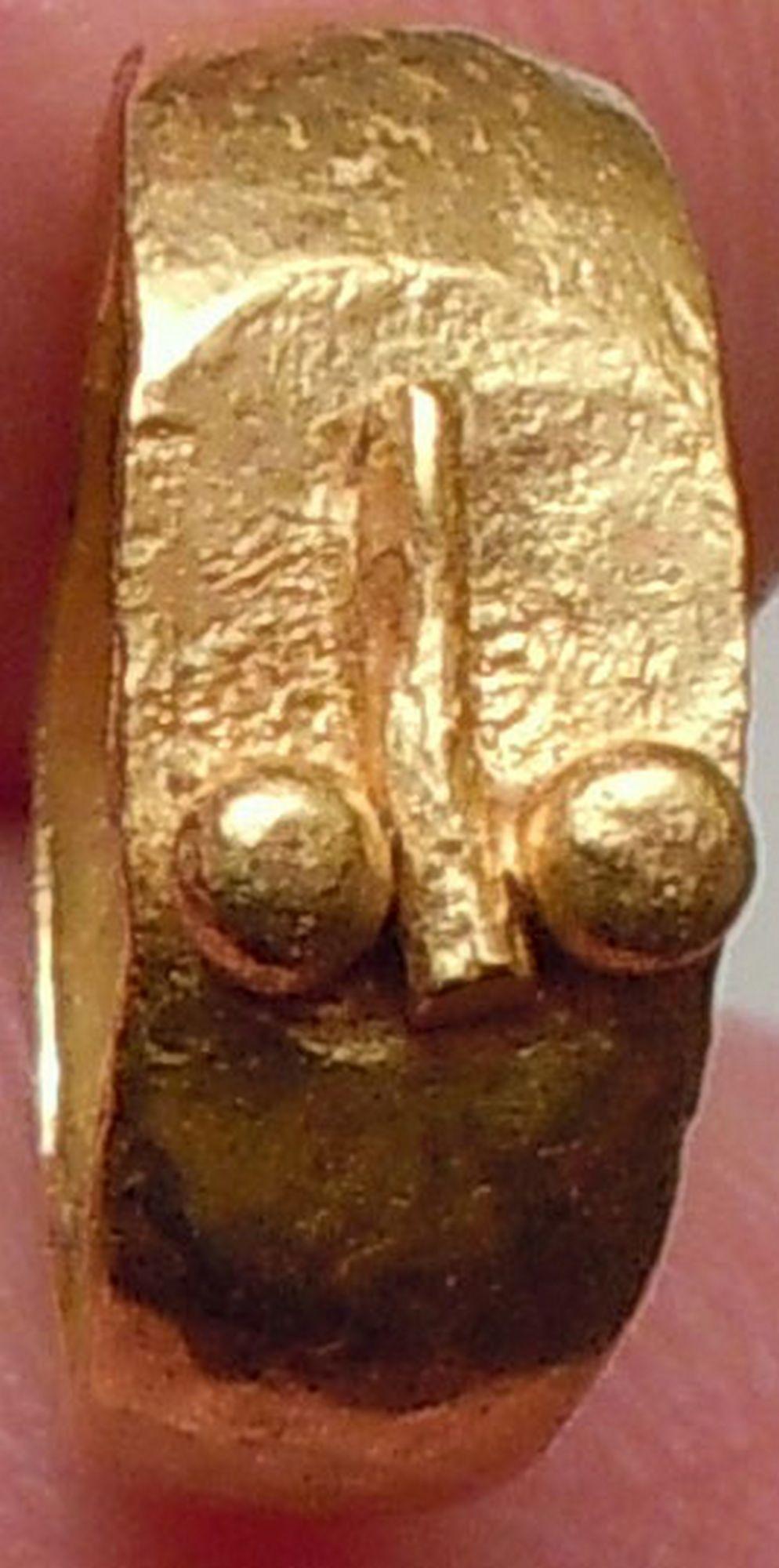 Ancient Genuine Roman Gold Baby FASCINUS Ring Amulet