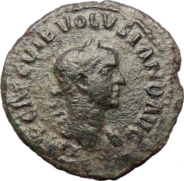 Volusian Roman Caesar251ad Ancient Coin Viminacium