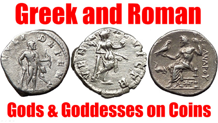 Greek and Roman Gods and Goddesses on Ancient Coins
