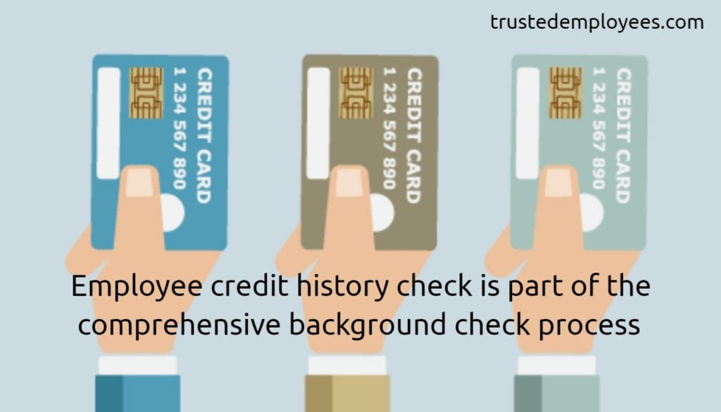 Employee credit history check is part of the comprehensive background check process