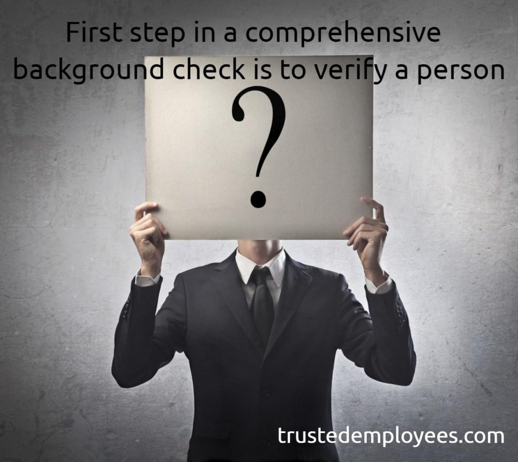 comprehensive background check